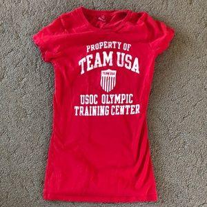 Team Apparel - Olympics - USA shirt - Red XS